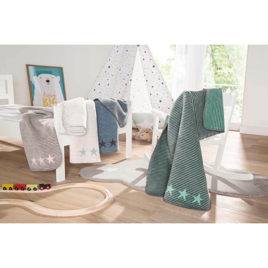 IBENA Babydecke »Lelu«, mit Streifen und Sternen ausgestattet