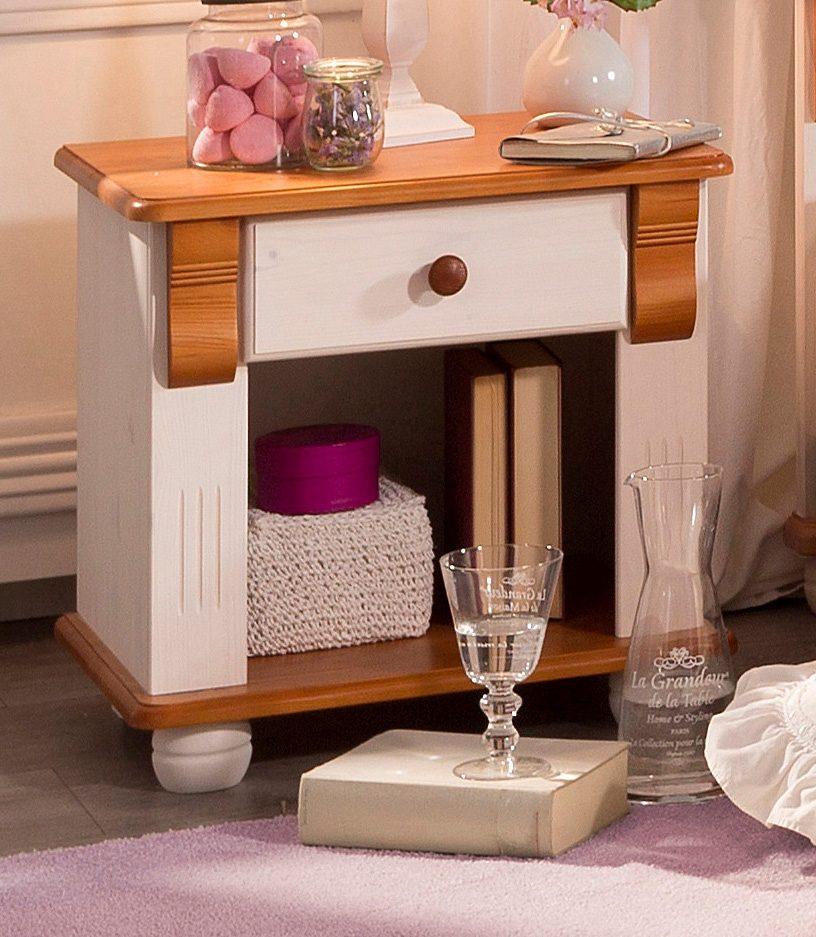 Nachttisch »Serie Adele«, Breite 52cm | Schlafzimmer > Nachttische | Weiß | SERIE ADELE