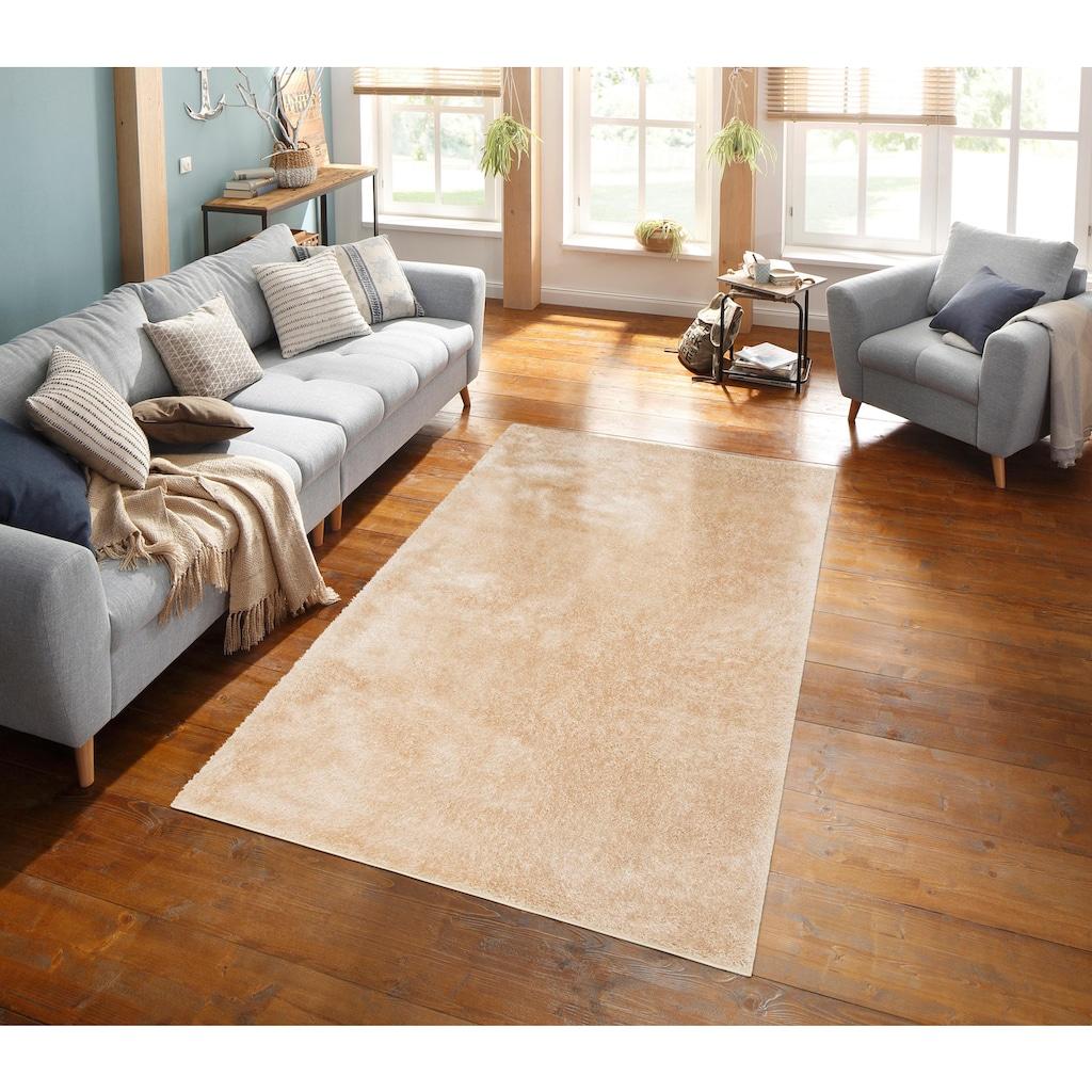 my home Hochflor-Teppich »Mikro Soft Ideal«, rechteckig, 30 mm Höhe, Besonders weich durch Microfaser, extra flauschig, Wohnzimmer