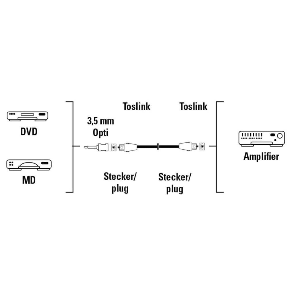 Hama Computer-Kabel, Toslink, Toslink, 75 cm, Lichtleiter-Verbindungskabel ODT-Stecker - ODT-Stecker, 0,75 m