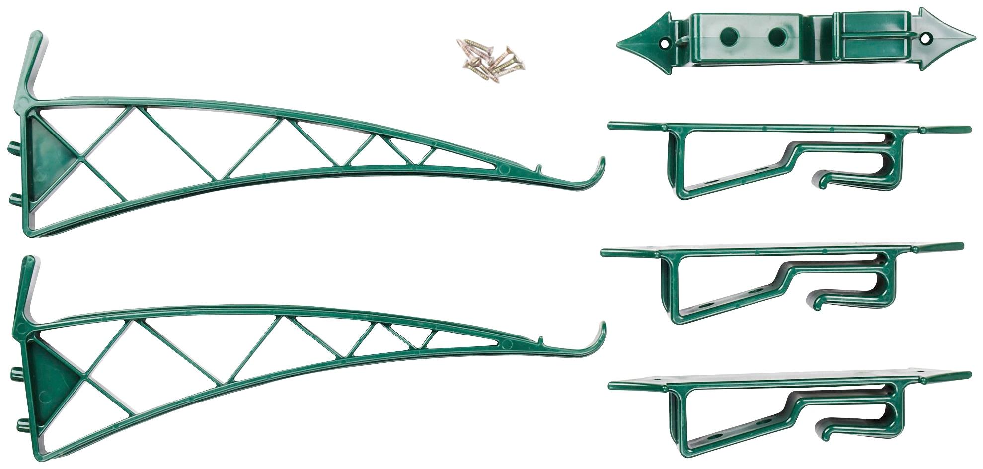 UPP Wandhalter für 6 Pflanztöpfe/Blumenampeln   Dekoration > Dekopflanzen > Blumenampeln   Grün   Abs - Kunststoff   UPP