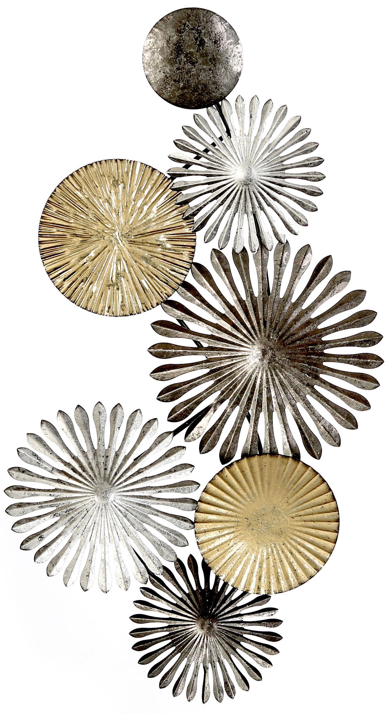 dekoratives modernes Wanddeko Objekt dreidimensional Metall schwarz-grau-taupe