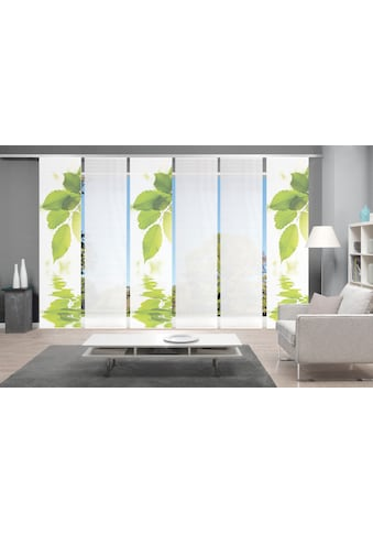 Vision Schiebegardine »LEFANO 6er SET«, Bambus-Optik, Digital bedruckt kaufen