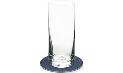 Contento Longdrinkglas, (Set, 4 tlg., 2 Longdrinkgläser und 2 Untersetzer), Anker, 400... kaufen
