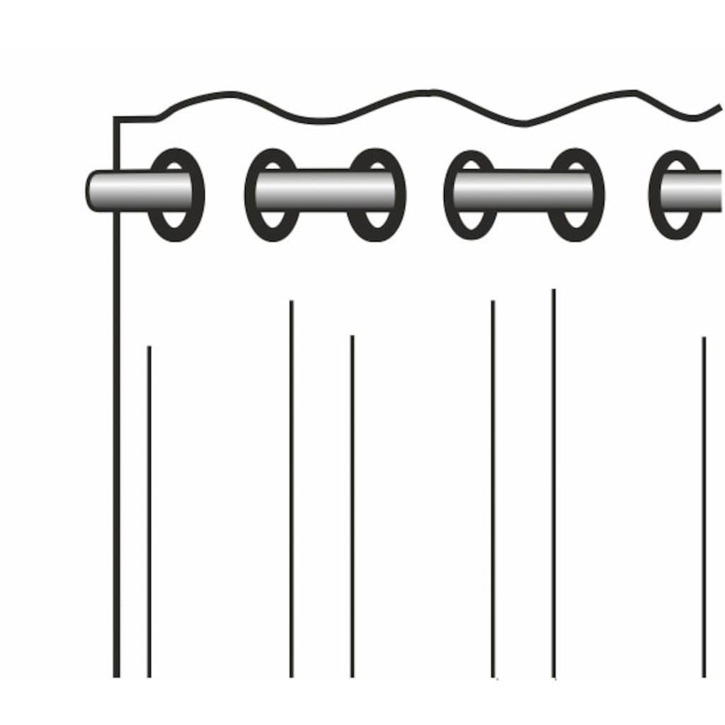 WILLKOMMEN ZUHAUSE by ALBANI GROUP Vorhang »Streifen«, Ösenschal