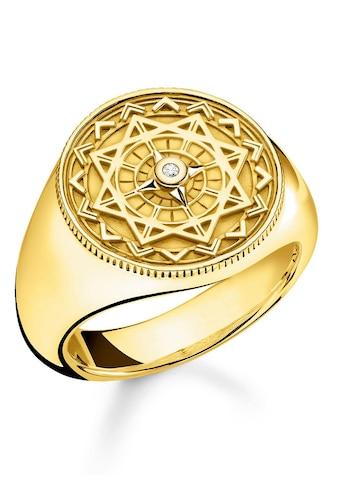 """THOMAS SABO Diamantring »Ring """"Vintage Kompass gold"""", D_TR0042-924-14-48, 50, 52, 54, 56, 58, 60«, mit Diamant kaufen"""
