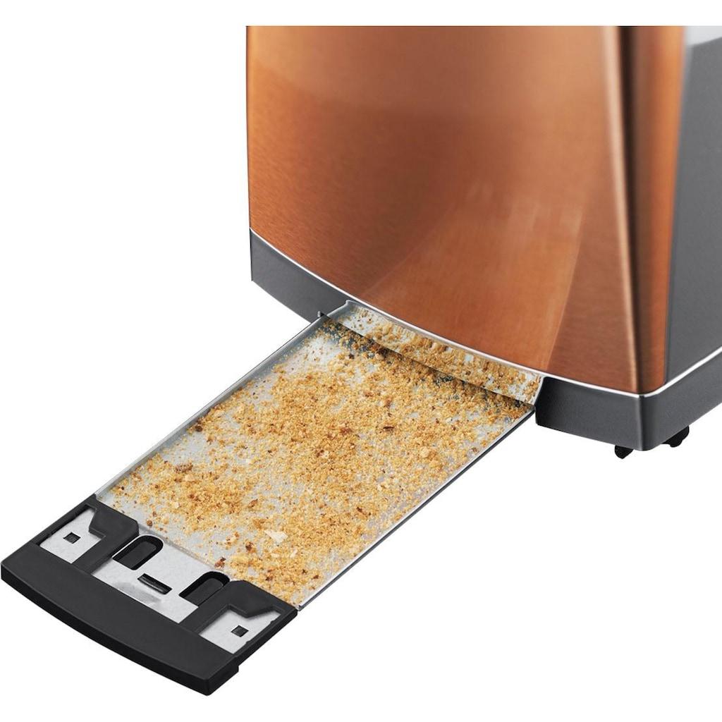 RUSSELL HOBBS Toaster »Luna Copper Accents 24290-56«, 2 lange Schlitze, für 2 Scheiben, 1550 W