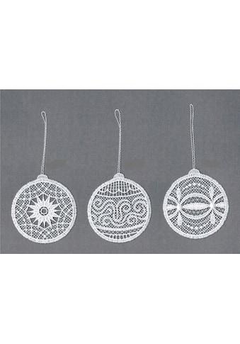 Stickereien Plauen Dekohänger »Weihnachtskugeln« (Set 6 Stück gemischt (je Motiv 2 Stück)) kaufen