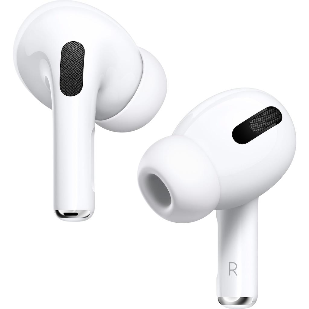 Apple In-Ear-Kopfhörer »AirPods Pro mit Wireless Case / MWP22ZM/A«, Bluetooth, Noise-Cancelling-Transparenzmodus-Sprachsteuerung-True Wireless, Kompatibel mit iPhone, iPhone XR, iPhone Mini, iPad Air, iPad Mini, iPad Pro, Watch SE, Series 6, Series 5, Series 4, Series 3, Mac Mini, iMac