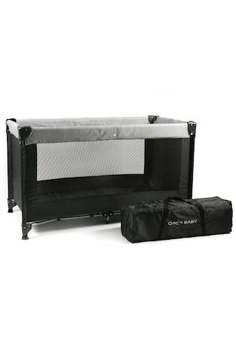 CHIC4BABY Baby-Reisebett »Basic schwarz«, mit Transporttasche kaufen
