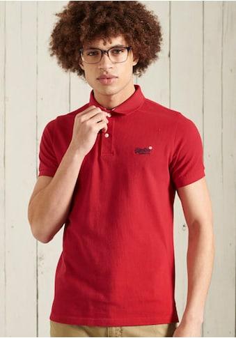 Superdry Poloshirt »CLASSIC PIQUE S/S POLO« kaufen