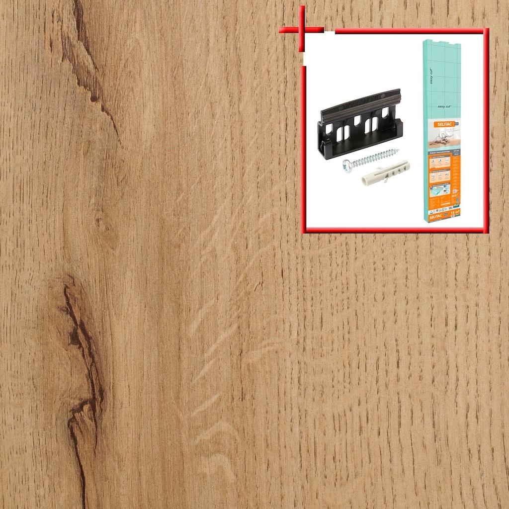 Bodenmeister Laminat »Dielenoptik Eiche beige rustikal«, Leiste weiß, Stärke: 7mm, ohne Fuge