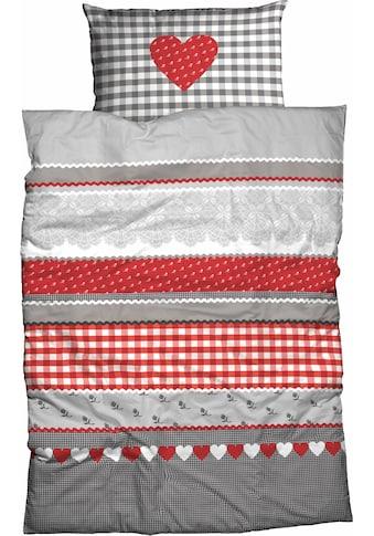 CASATEX Bettwäsche »Herz-Karo«, mit niedlichem Herz-Karo Design kaufen