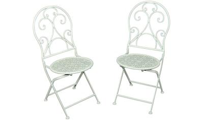 Garden Pleasure Gartenstuhl »Lascar«, 2er Set, Stahl/Textil, stapelbar kaufen