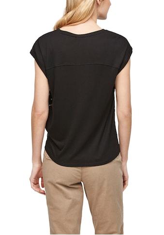 s.Oliver Blusenshirt, mit allover-bedrucktem Bluseneinsatz vorn kaufen