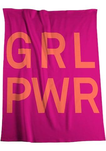 BIEDERLACK Wohndecke »Girl Power«, mit Schriftzug kaufen