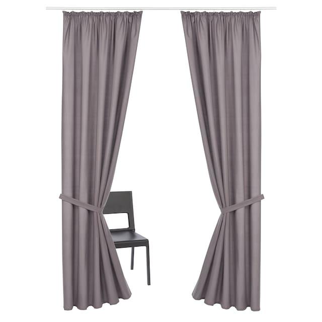 Vorhang, »Luna«, my home, Kräuselband 2 Stück