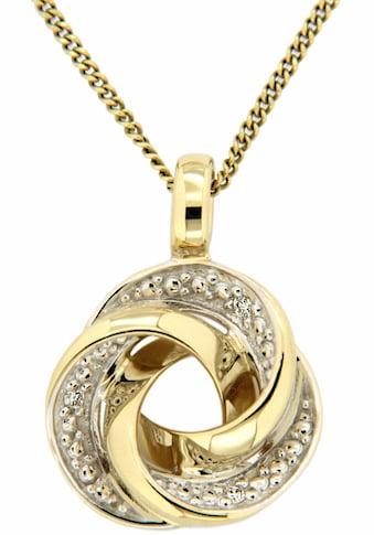 Firetti Kettenanhänger »Knoten«, mit Brillanten kaufen