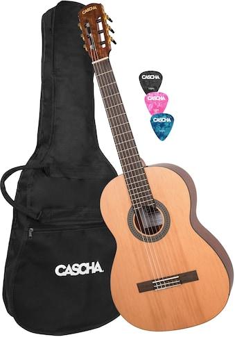Cascha Konzertgitarre »Stage Series«, 4/4, inkl. Gitarrenschule und Stimmgerät kaufen