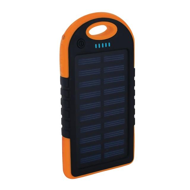 XLAYER Zusatzakku »Powerbank PLUS Solar Black/Orange 4000mAh Smartpho«