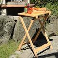 KESPER for kitchen & home Beistelltisch, (2 St.), mit abnehmbaren Tablett, zum Servieren und Tranchieren