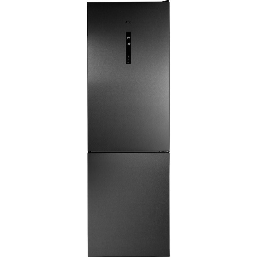 AEG Kühl-/Gefrierkombination, RCB732E5MB, 186 cm hoch, 59,5 cm breit