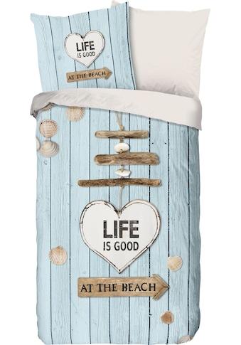 good morning Wendebettwäsche »Beach«, mit Strandmotiv kaufen