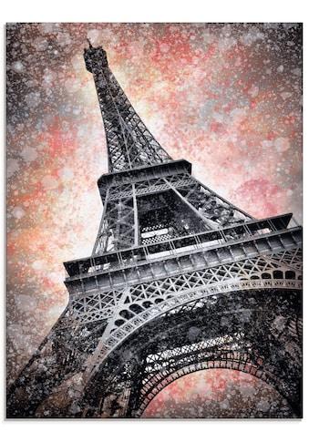 Artland Glasbild »Modern Art Eiffelturm«, Gebäude, (1 St.) kaufen