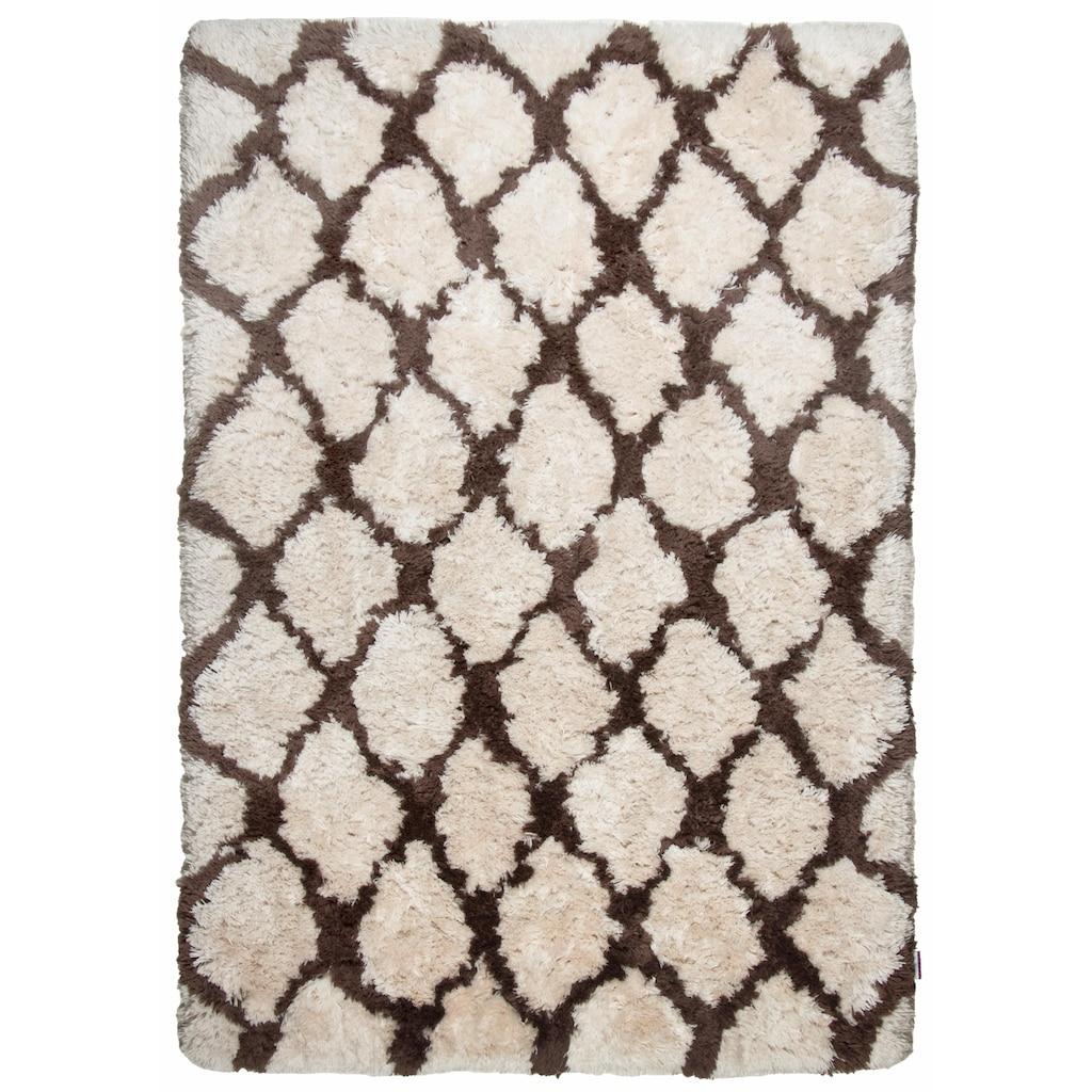 TOM TAILOR Hochflor-Teppich »Flocatic Pattern«, rechteckig, 65 mm Höhe, Rautenmuster