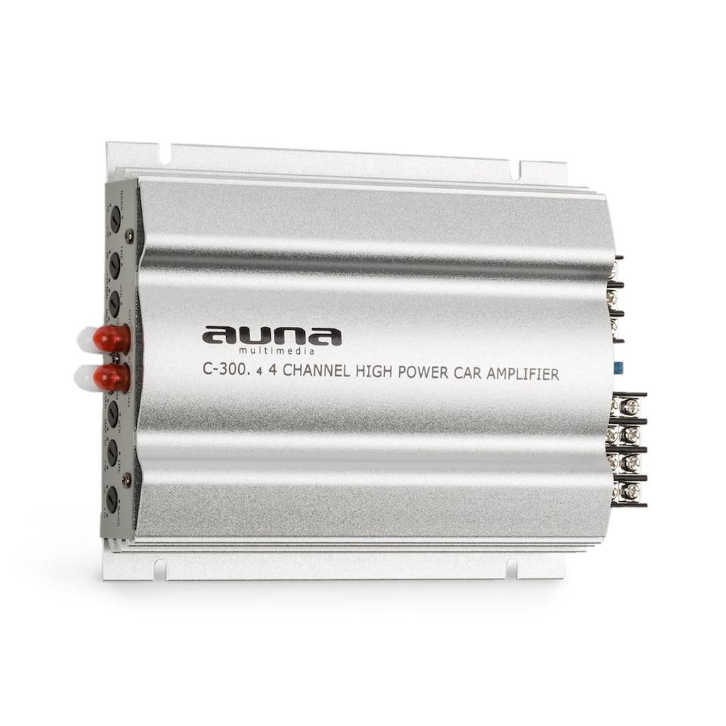 Auna 4-Kanal-Verstärker Auto-Endstufe 4x200 W Musik / 4x100 W RMS