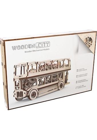 Wooden City Modellbausatz »Doppeldeckerbus«, aus Holz; Made in Europe kaufen