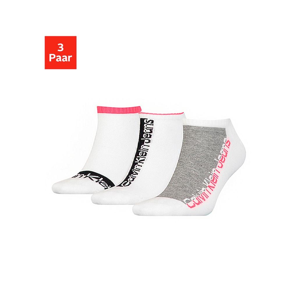 Calvin Klein Sneakersocken, (3 Paar), mit gepolsterter Frotteesohle
