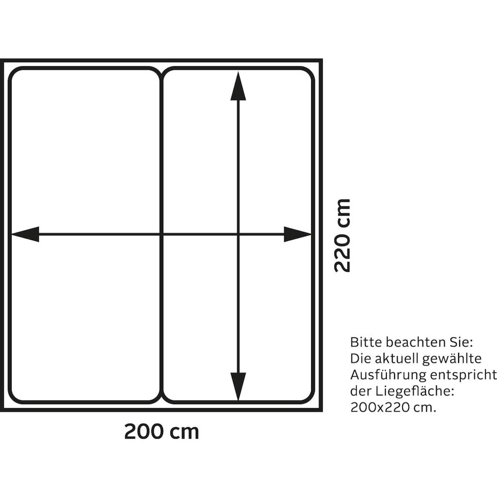 TOM TAILOR Boxspringbett »COLOR BOX«, Kunstleder, ohne Print, Überlänge 220 cm