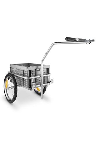 Duramaxx Fahrradanhänger Handwagen Hochdeichsel 40l 40kg grau kaufen