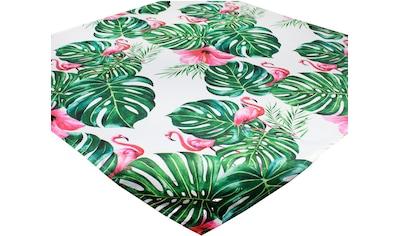 Delindo Lifestyle Mitteldecke »Botanical FLAMINGO«, (1 St.), Strukturgewebe, bedruckt kaufen