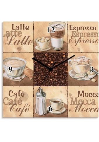 Artland Wanduhr »Kaffee Collage II«, lautlos, ohne Tickgeräusche, nicht tickend,... kaufen