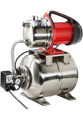 HANSEATIC Set: Hauswasserwerk »HWW 3819 Inox«, inkl. Saugschlauchgarnitur und Vorfilter kaufen