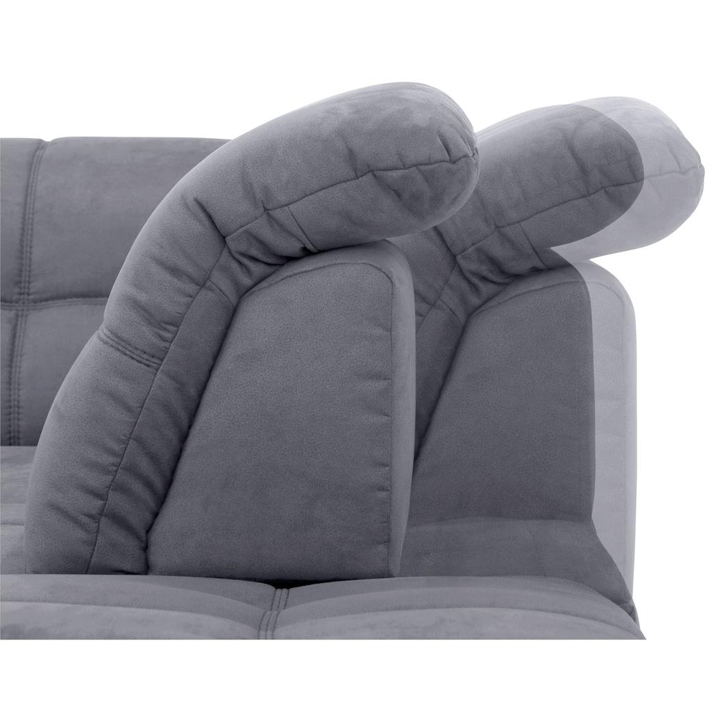 Home affaire Ecksofa »Lotus Home Luxus«, belastbar bis zu 140kg, incl. Sitztiefenverstellung, wahlweise mit Kopfteil- und Armlehnverstellung, Bettfunktion und Stauraum