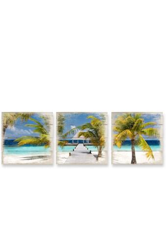 Wall-Art Mehrteilige Bilder »Der Weg ins Paradies Collage«, (Set, 3 St.) kaufen