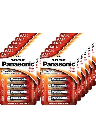 Panasonic »Batterie Alkaline, Mignon, AA, LR06, 1.5V, Pro Power, Retail Blister (48 - Pack)« Batterie kaufen