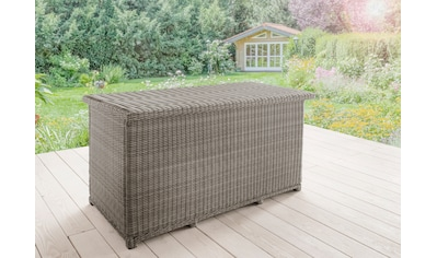 DESTINY Kissenbox »CASA«, 96x175x90 cm, Polyrattan, grau kaufen