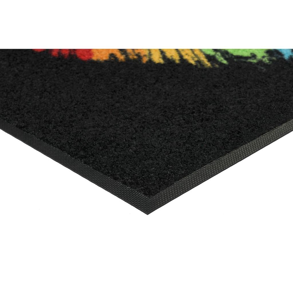 wash+dry by Kleen-Tex Fußmatte »Pride Heart«, rechteckig, 7 mm Höhe, Schmutzfangmatte, In- und Outdoor geeignet, waschbar