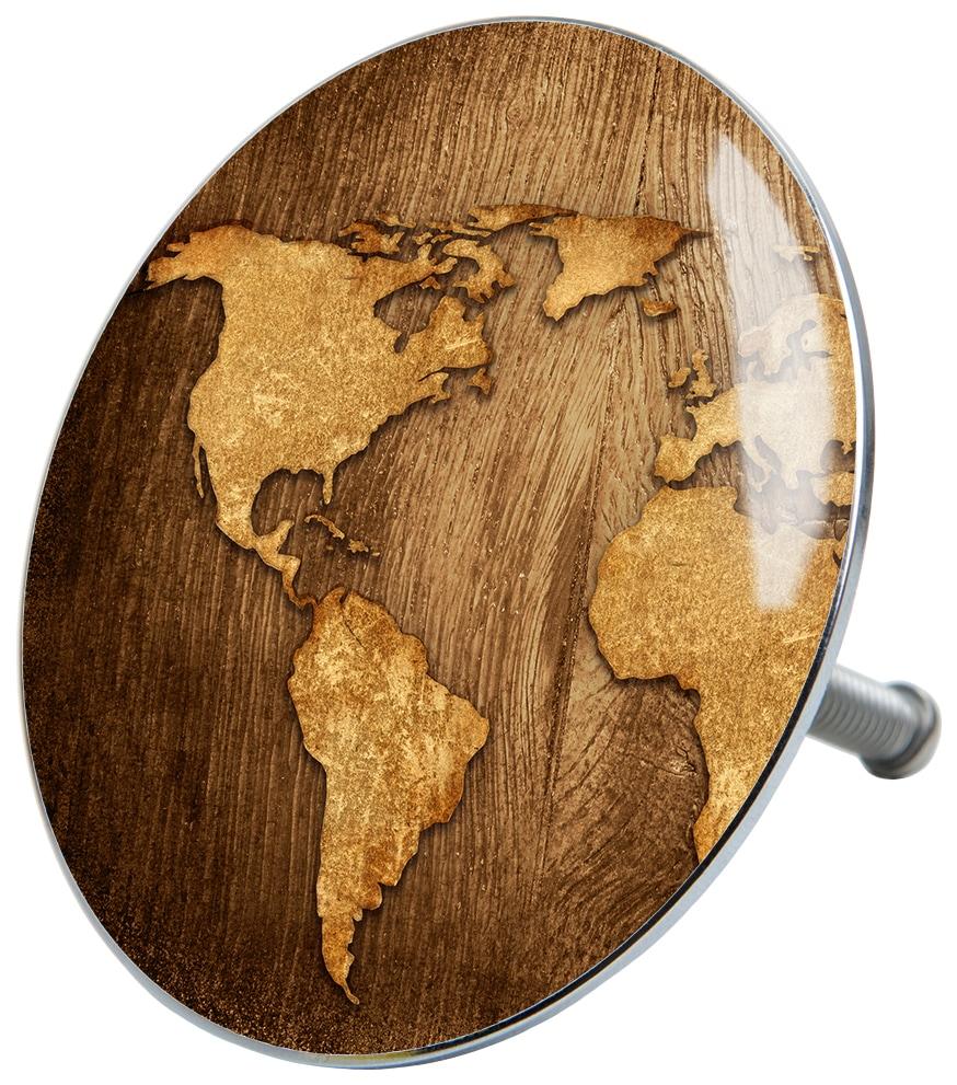 SANILO Stöpsel »World Map«, für Badewannen und Duschen, Ø 7,2 cm | Bad > Duschen > Duschen | Braun | SANILO