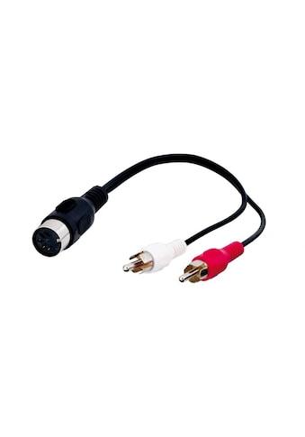 Goobay Audio Kabeladapter »DIN - Buchse zu stereo Cinch - Stecker« kaufen