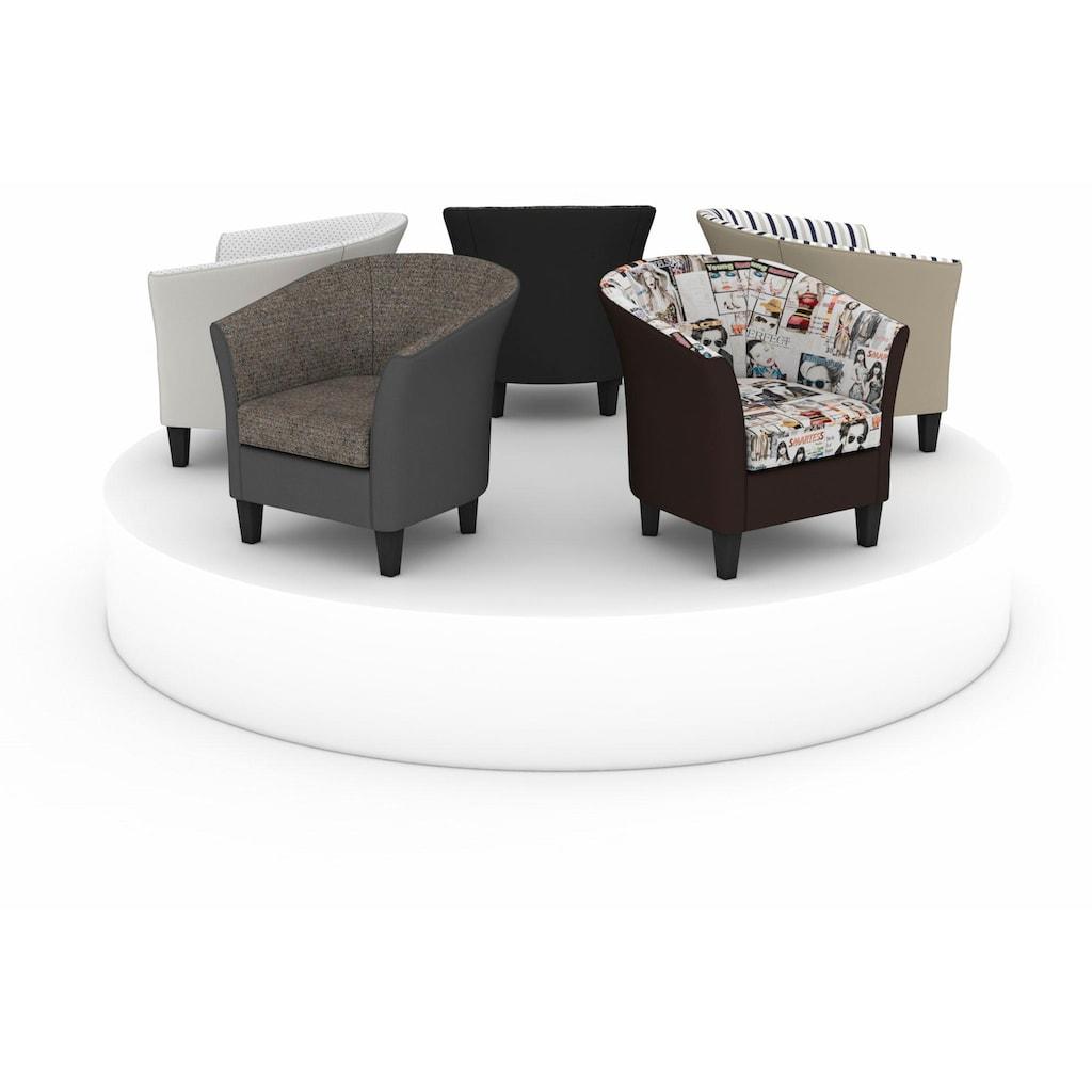 Max Winzer® Cocktailsessel »Luisa«, in runder Form, zum Selbstgestalten