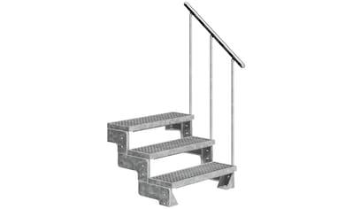 DOLLE Außentreppe »Gardentop«, für Geschosshöhen bis 66 cm, Gitterroststufen 100 cm kaufen