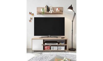 TV-Bank »Leni«, mit Seilgriff, im modernen Dekor Old Style hell kaufen