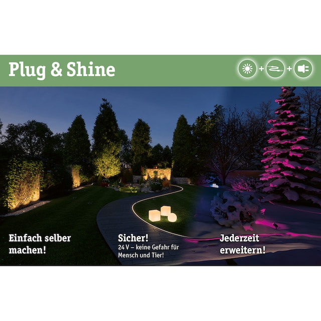 Paulmann,LED Gartenstrahler»Outdoor Plug & Shine SpotlightPike«,