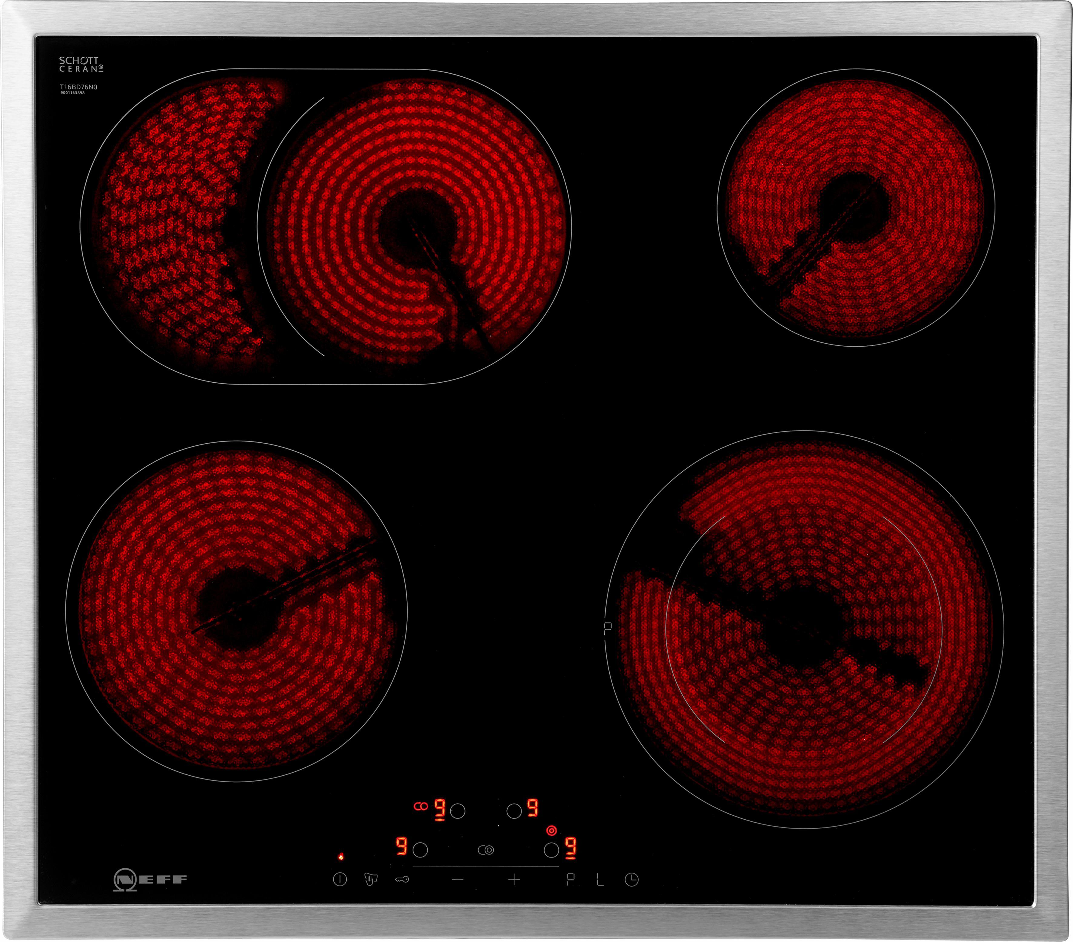 NEFF Elektro-Kochfeld von SCHOTT CERAN T16BD76N0 , T16BD76N0, mit TouchControl-Bedienung