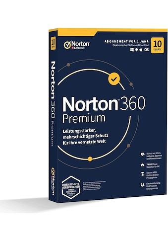 Norton Anwendungssoftware »10 Geräte, 75 GB Cloud-Speicherplatz«, 360 Preminum 1U 10D... kaufen